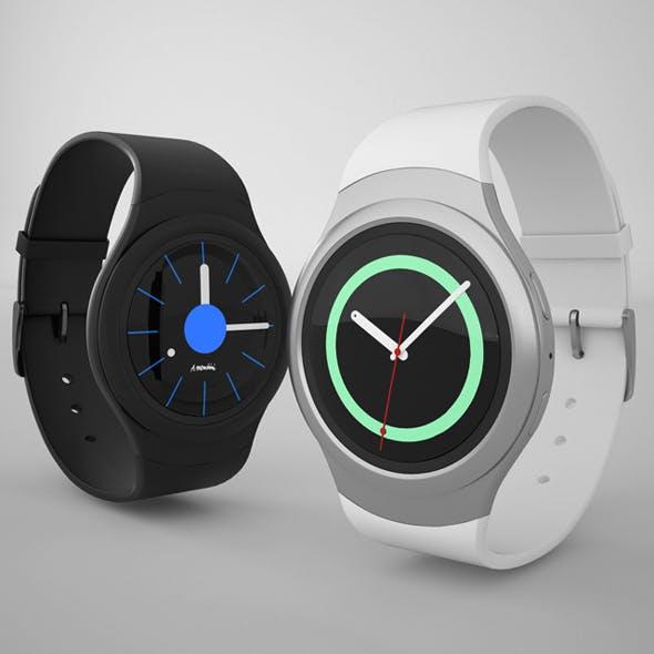Samsung Gear S2 Silver Black Clock