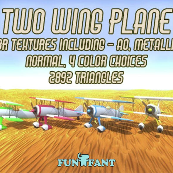 Low Poly Two Wing Plane