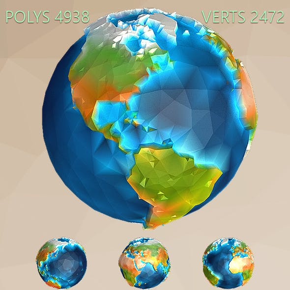 Low Poly Earth - 3DOcean Item for Sale