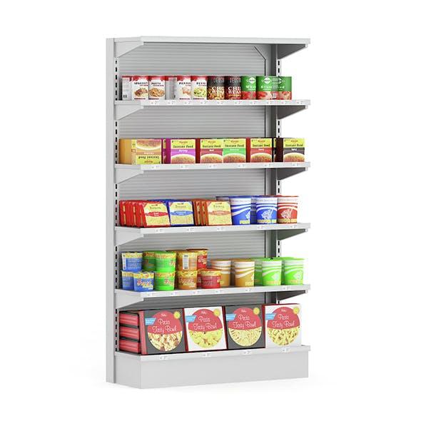 Market Shelf – Instant Foods - 3DOcean Item for Sale