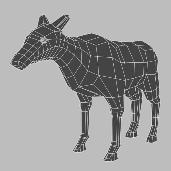 Low Poly Base Mesh Female Deer