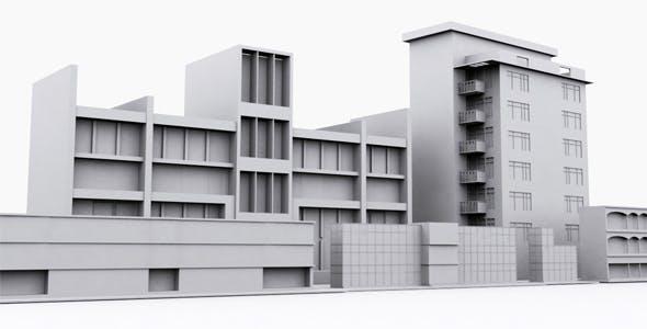 Building Set Model - 3DOcean Item for Sale