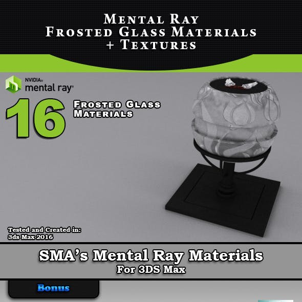 Mental Ray Frosted Glass Materials Library + Textures