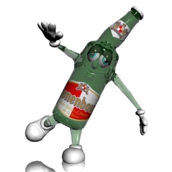 Beer Bottle Cartoon Character - 3DOcean Item for Sale
