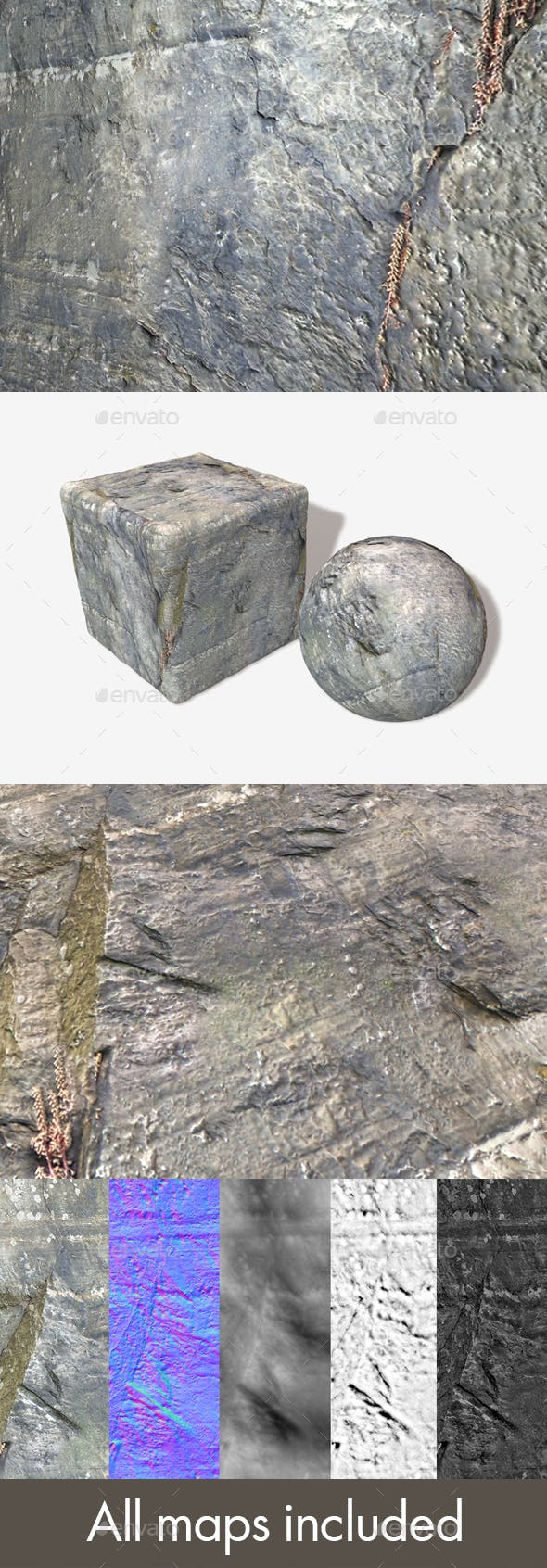 Cliff Crack Seamless Texture - 3DOcean Item for Sale