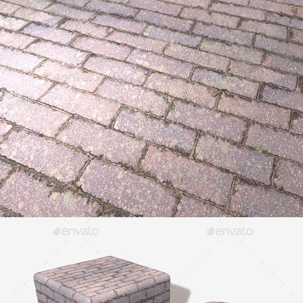 Purple Brick Paving Seamless Texture