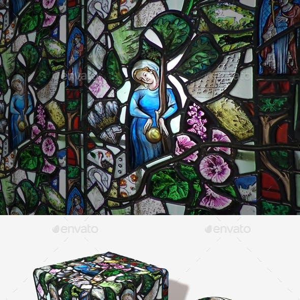 Random Stained Glass Window Seamless Texture