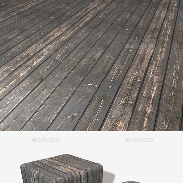 Stained Black Wood Seamless Texture