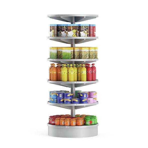 Round Market Shelf - 3DOcean Item for Sale