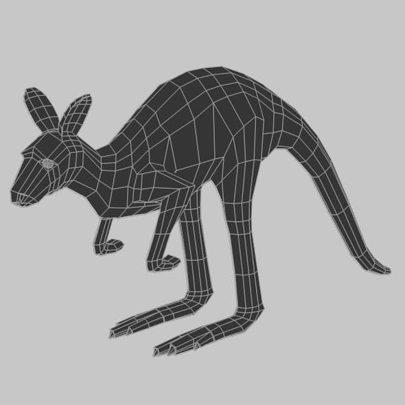 Low Poly Base Mesh Kangaroo