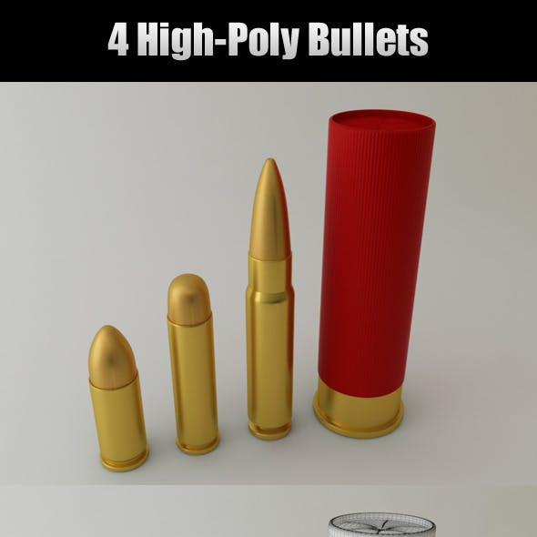 4 High-Poly Bullets