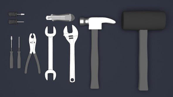 Mechanic tool set - 3DOcean Item for Sale