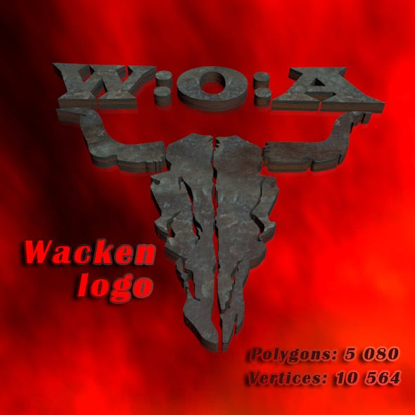 Wacken logo - 3DOcean Item for Sale