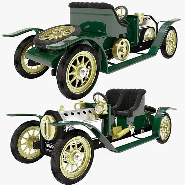 Mamod steam toy car - 3DOcean Item for Sale