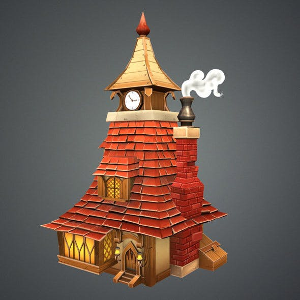 Low Poly Stylized Tavern - 3DOcean Item for Sale