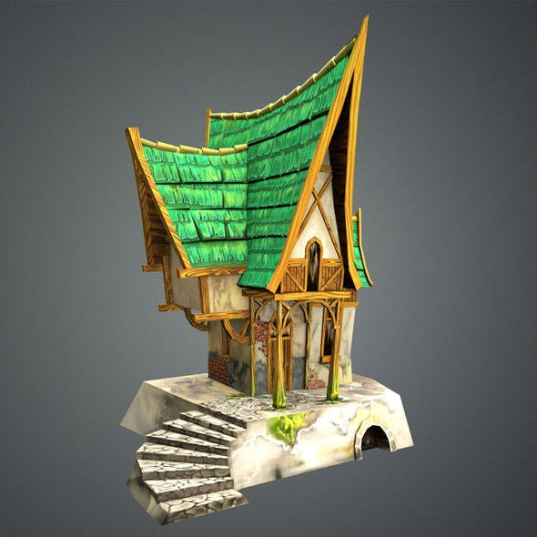 Low Poly Green House