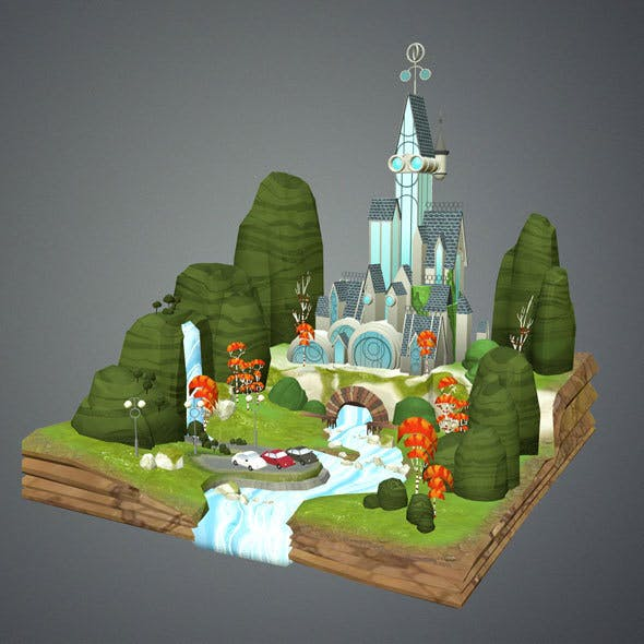 Low Poly Fantasy Castle
