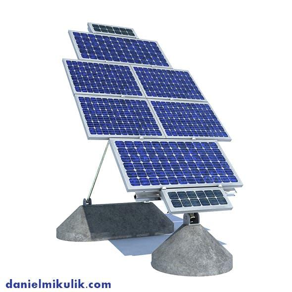 Solar Panel Farm High Detaile