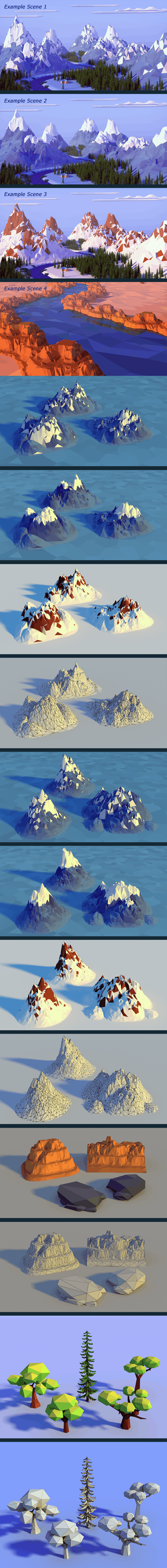 Low Poly Nature Pack - 3DOcean Item for Sale