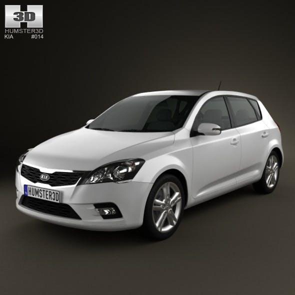 Kia Ceed Hatchback 5-door 2011 - 3DOcean Item for Sale