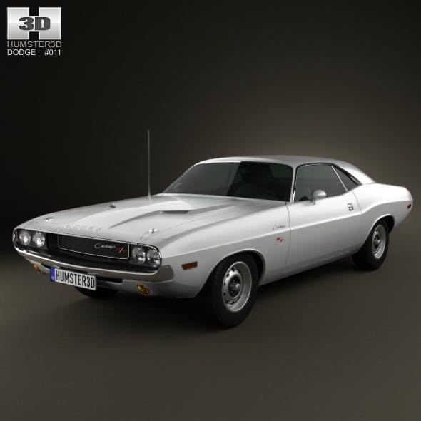 Dodge Challenger hardtop 1970 - 3DOcean Item for Sale