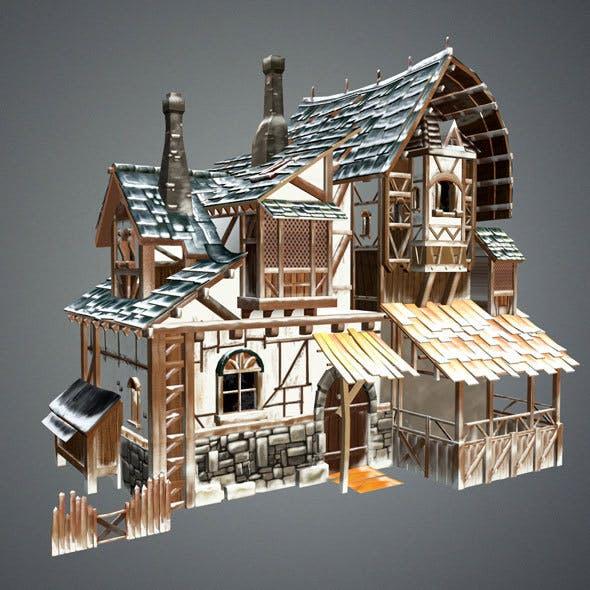 Snow Medieval House