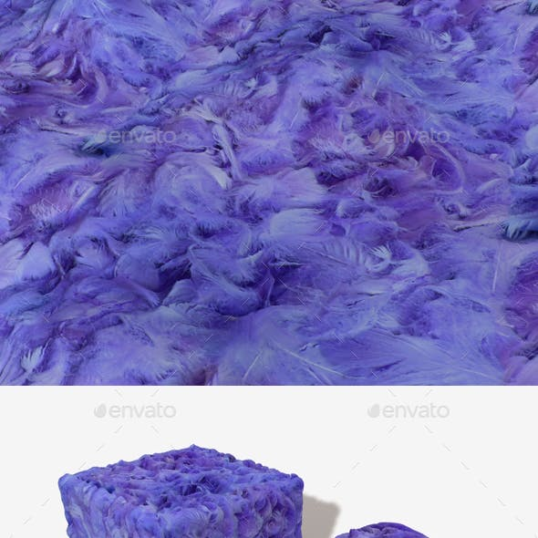 Purple Feathers Seamless Texture