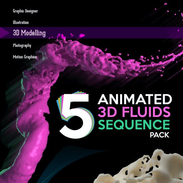 Animated 3D Fluids Pack