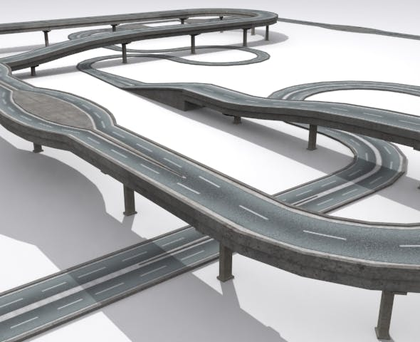 Road And Highway Set - 3DOcean Item for Sale
