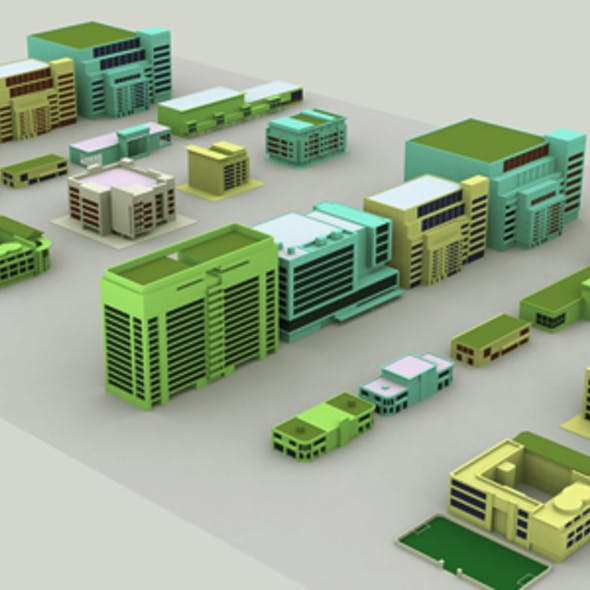City Building Set Model