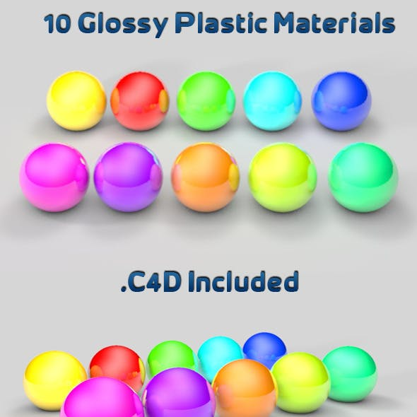 10 Glossy Plastic Materials