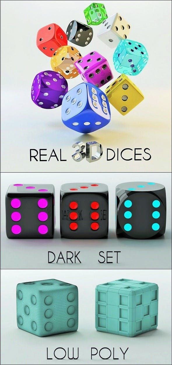 3D Dice Set - 3DOcean Item for Sale