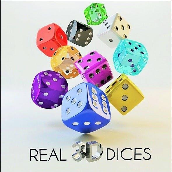 3D Dice Set