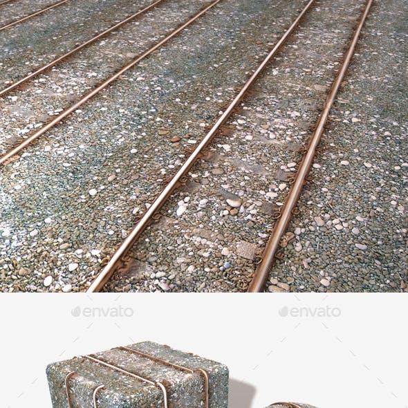 Train Tracks Seamless Texture