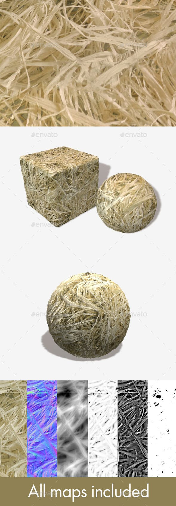 Dry Straw Seamless Texture - 3DOcean Item for Sale