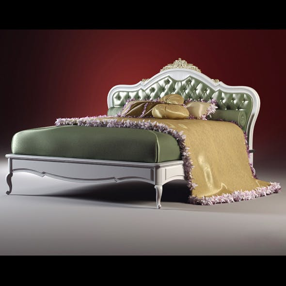 High quality model of classic bed - 3DOcean Item for Sale
