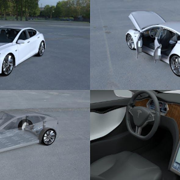 Tesla Model S with chassis/interior HDRI