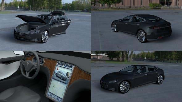 Tesla Model S with interior HDRI - 3DOcean Item for Sale