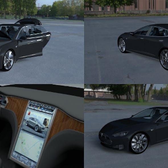 Tesla Model S with interior HDRI