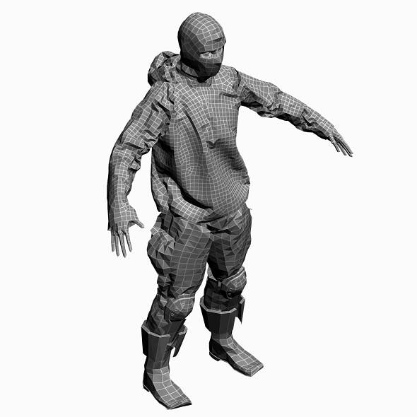 Low Poly Base Mesh Monah 1 - 3DOcean Item for Sale