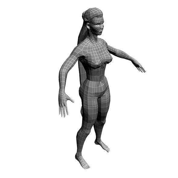 Low Poly Base Mesh wooman - 3DOcean Item for Sale
