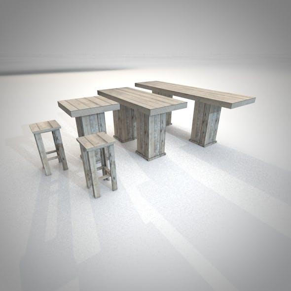 Woody bar furniture - 3DOcean Item for Sale