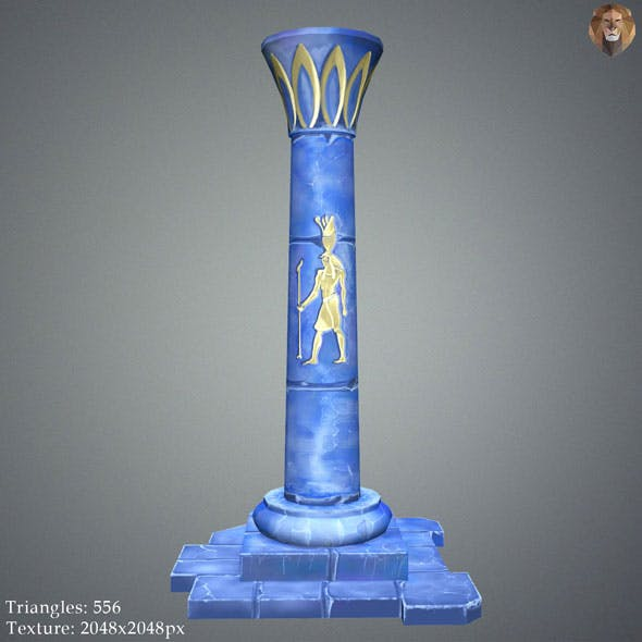 Low Poly Egypt Pillar