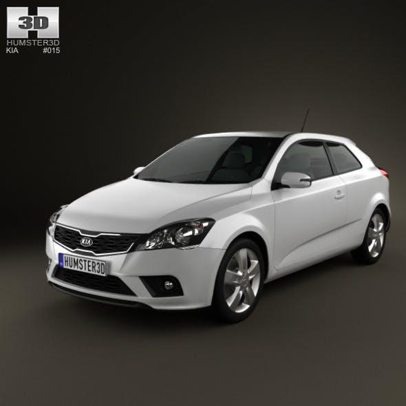 Kia Pro Ceed 3-door hatchback 2011 - 3DOcean Item for Sale