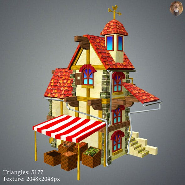 Low Poly Tavern House