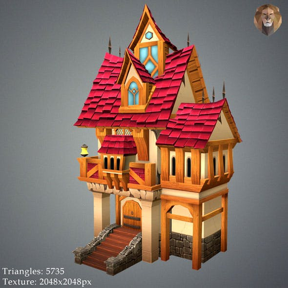 Low Poly Old House