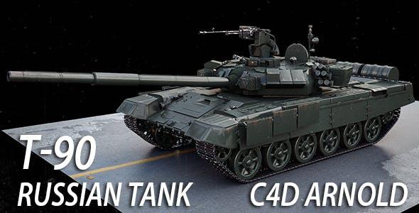Tank T-90 - 3DOcean Item for Sale