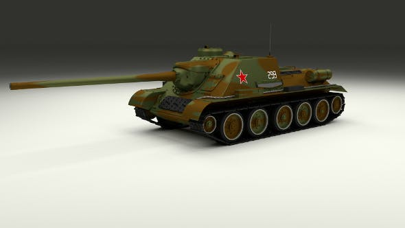 SU 100 Tank Destroyer Camo - 3DOcean Item for Sale
