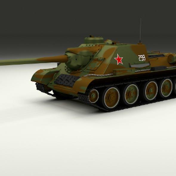 SU 100 Tank Destroyer Camo