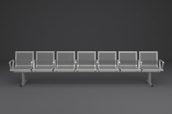 Perforated Steel Station Seating - 3DOcean Item for Sale